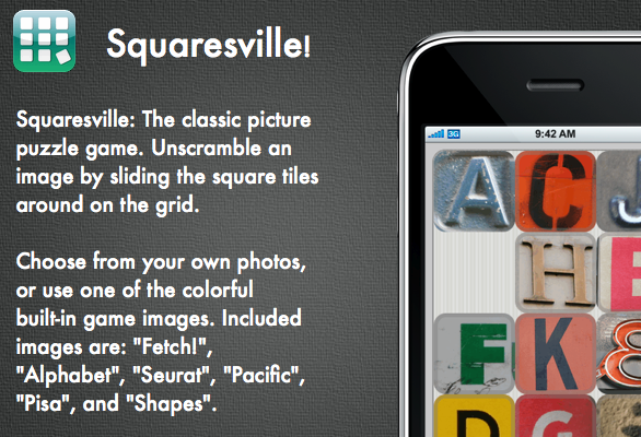 Squaresville is a fun puzzle game for the iPhone
