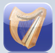 Harp is an amazing instrument for your phone