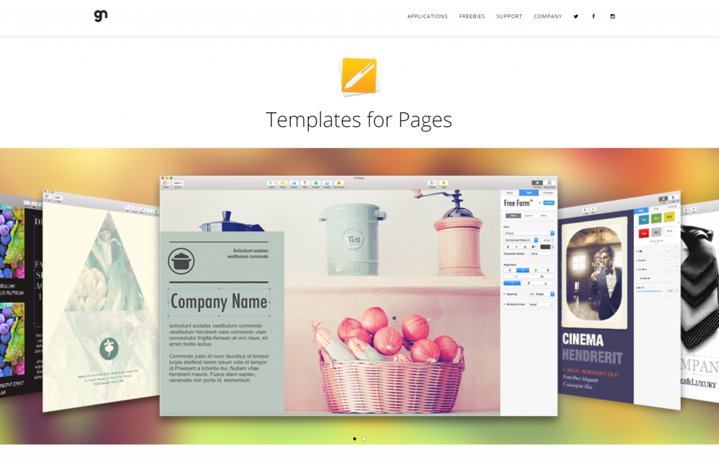 Graphic Node – Exceptional templates and themes for Mac OS X » Templates for Pages