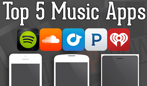 top 5 music apps spotify rdio pandora soundcloud iheart radio stateoftechstateoftech