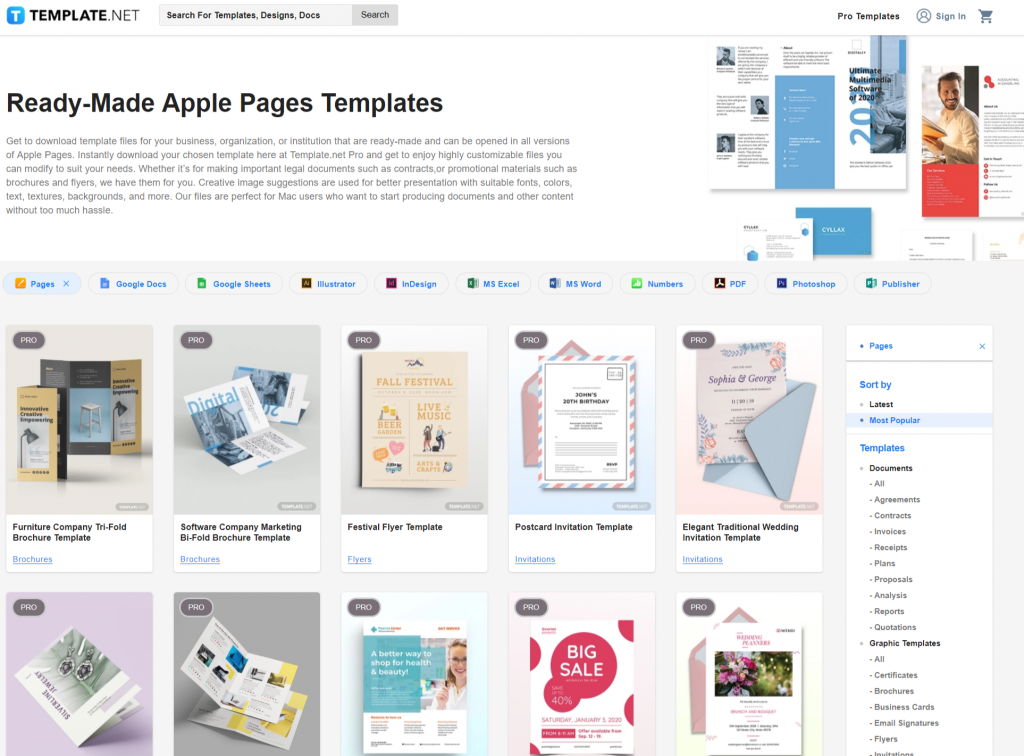 Apple Pages Templates Download Ready Made Template net
