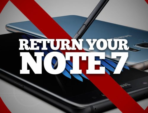 Return Your Note 7 Now!