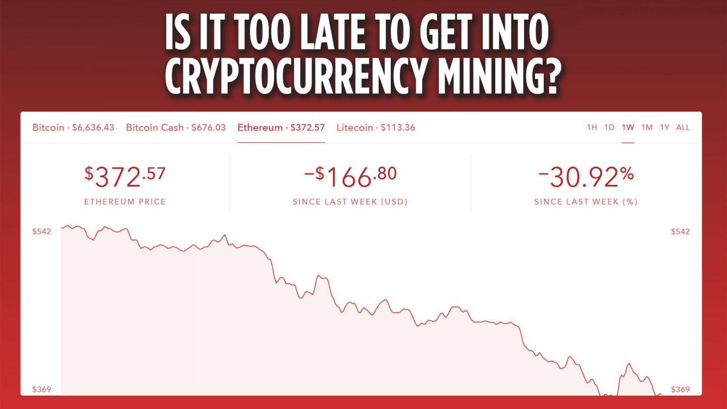 Is it too late to get into Cryptocurrency Mining?
