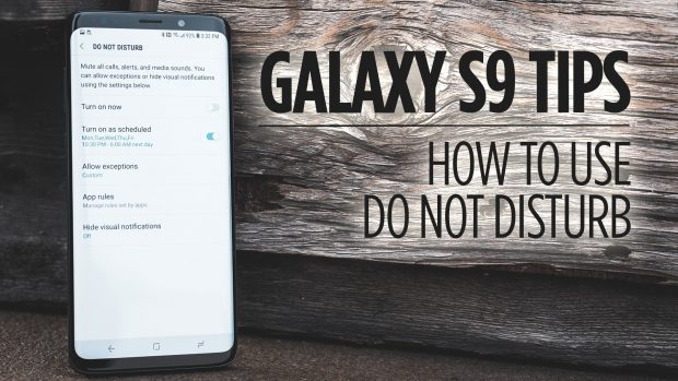 Samsung Galaxy S9 Tips - How to Use Do Not Disturb